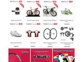Diseño de la página inicial de la tienda online