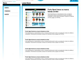 Programación web de sección de noticias