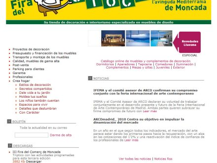 Diseño web Muebles Lluesma con Facebook