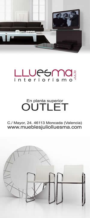 Diseño de banner para la planta de outlet de Muebles Lluesma