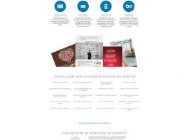 Diseño página web herramientas de marketing