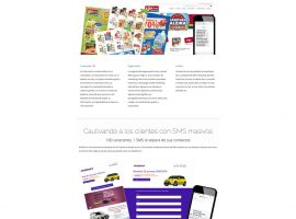 Diseño página web de SMS marketing Mandoo