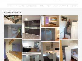 Sección proyectos de la pagina web