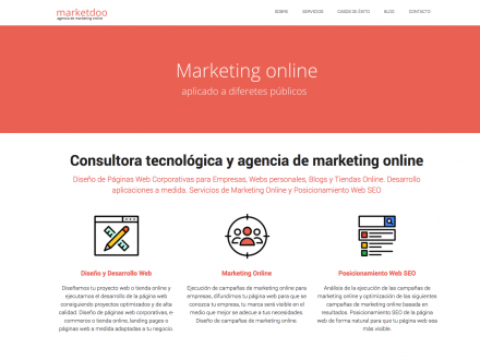 Página web Agencia de Marketing Digital