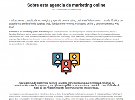 Sobre la Agencia de Marketing Online marketdoo