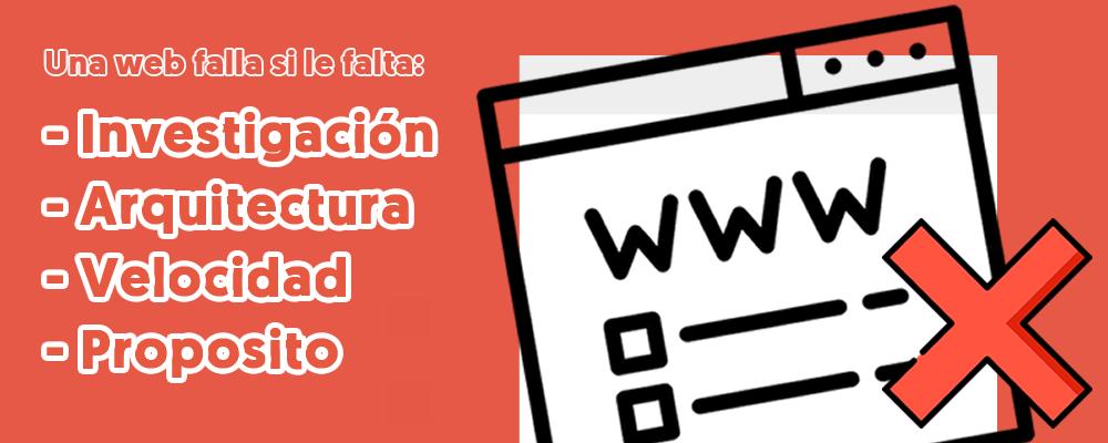 Errores a Evitar al Crear Página Web