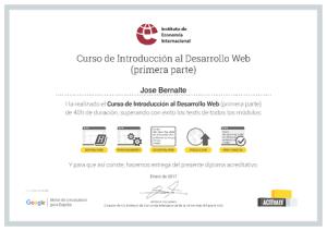 Certificado Desarrollo Web IEI Parte 1