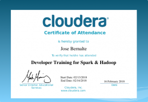 Curso del Ecosistema Cloudera. Spark y Hadoop