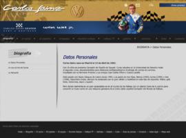 Desarrollo Página Web Carlos Sainz Oficial