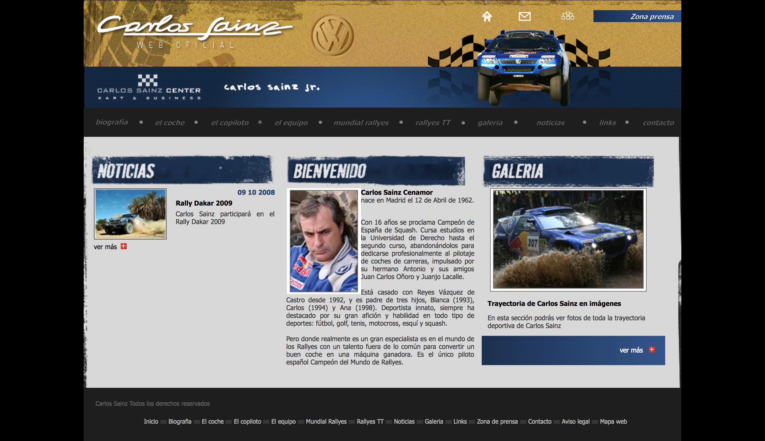 Diseño Web Carlos Sainz Piloto Español