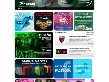 Diseño Página Web de Rasan