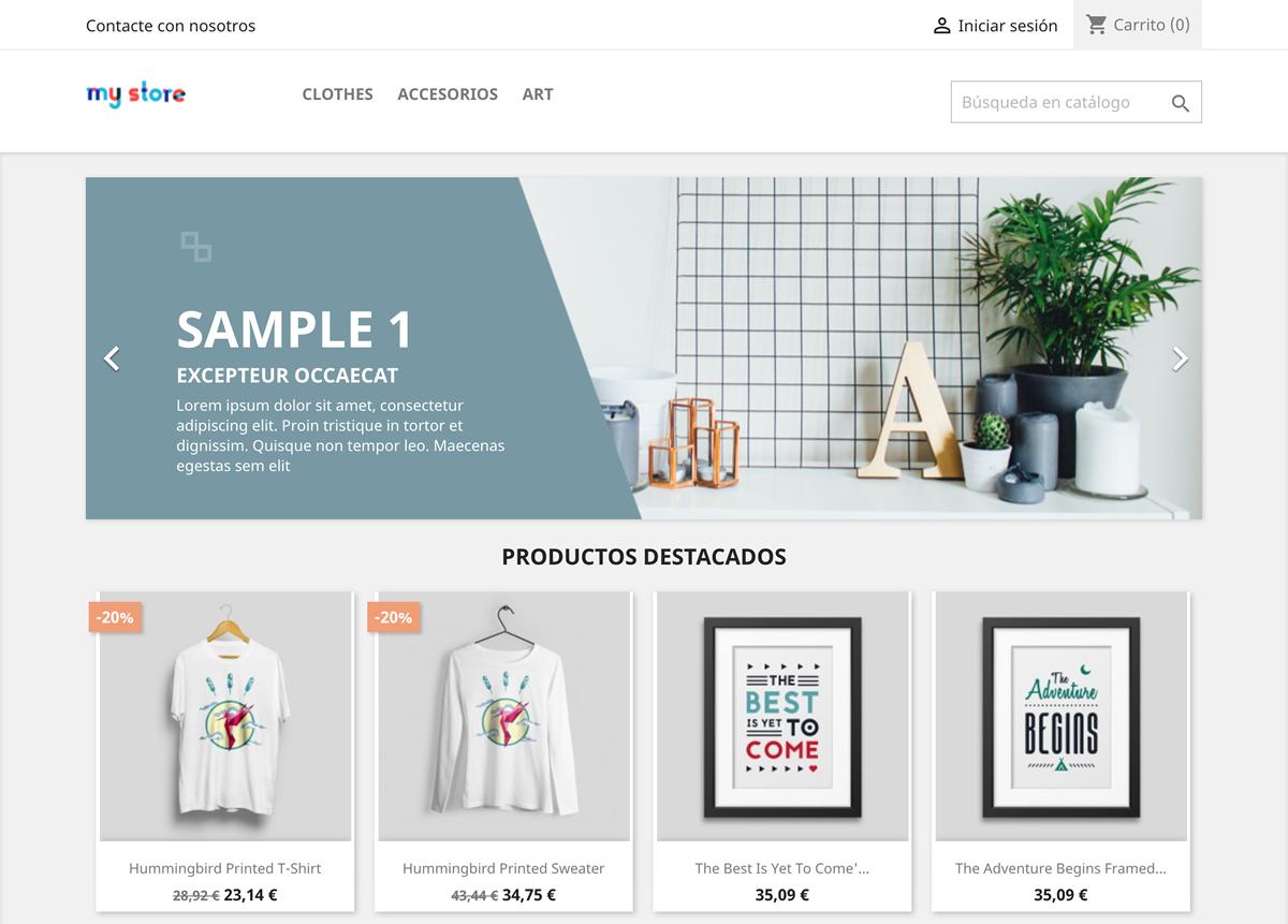 Tienda online PrestaShop 1.7