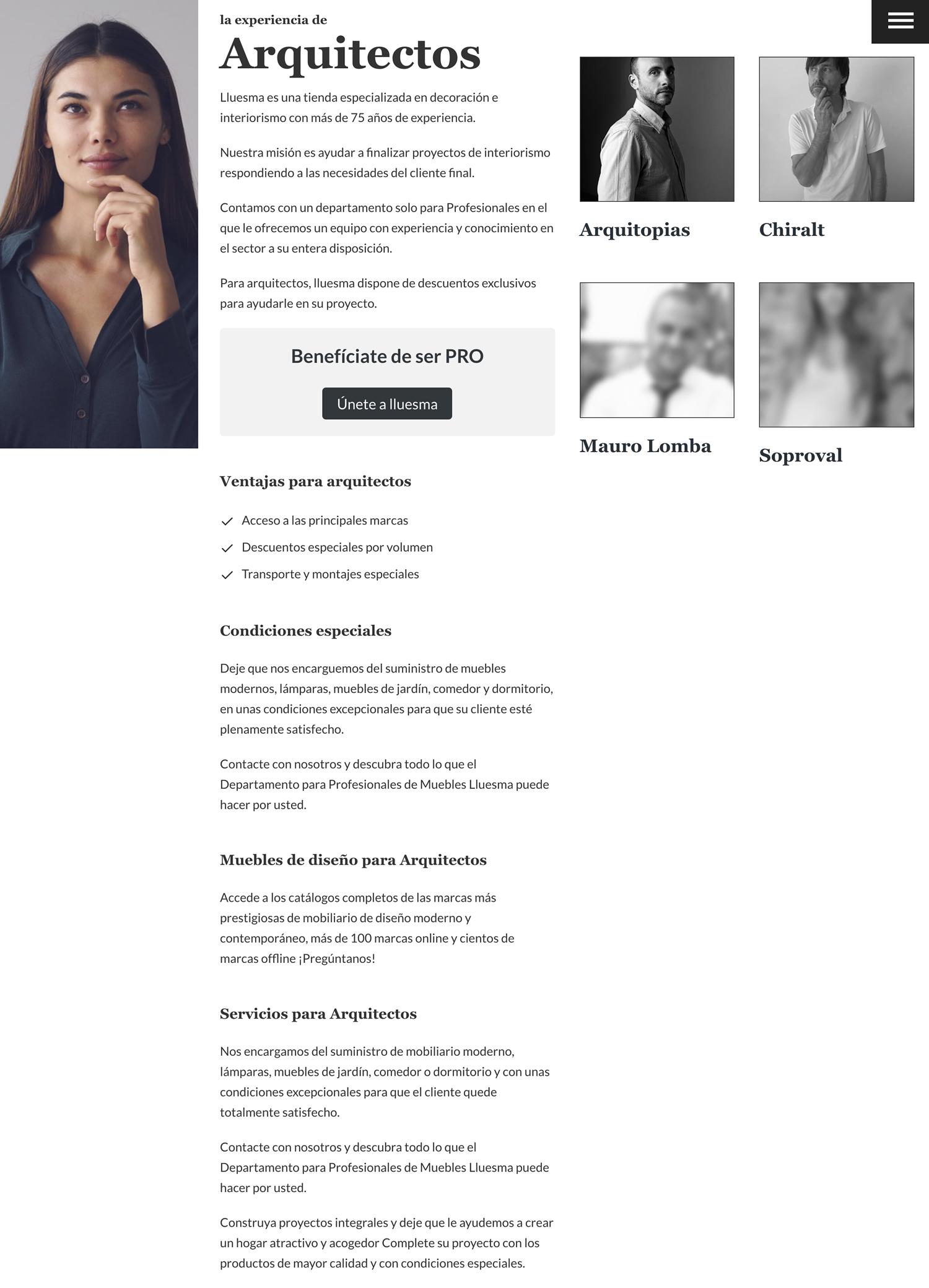 Diseño Página Web Arquitectos