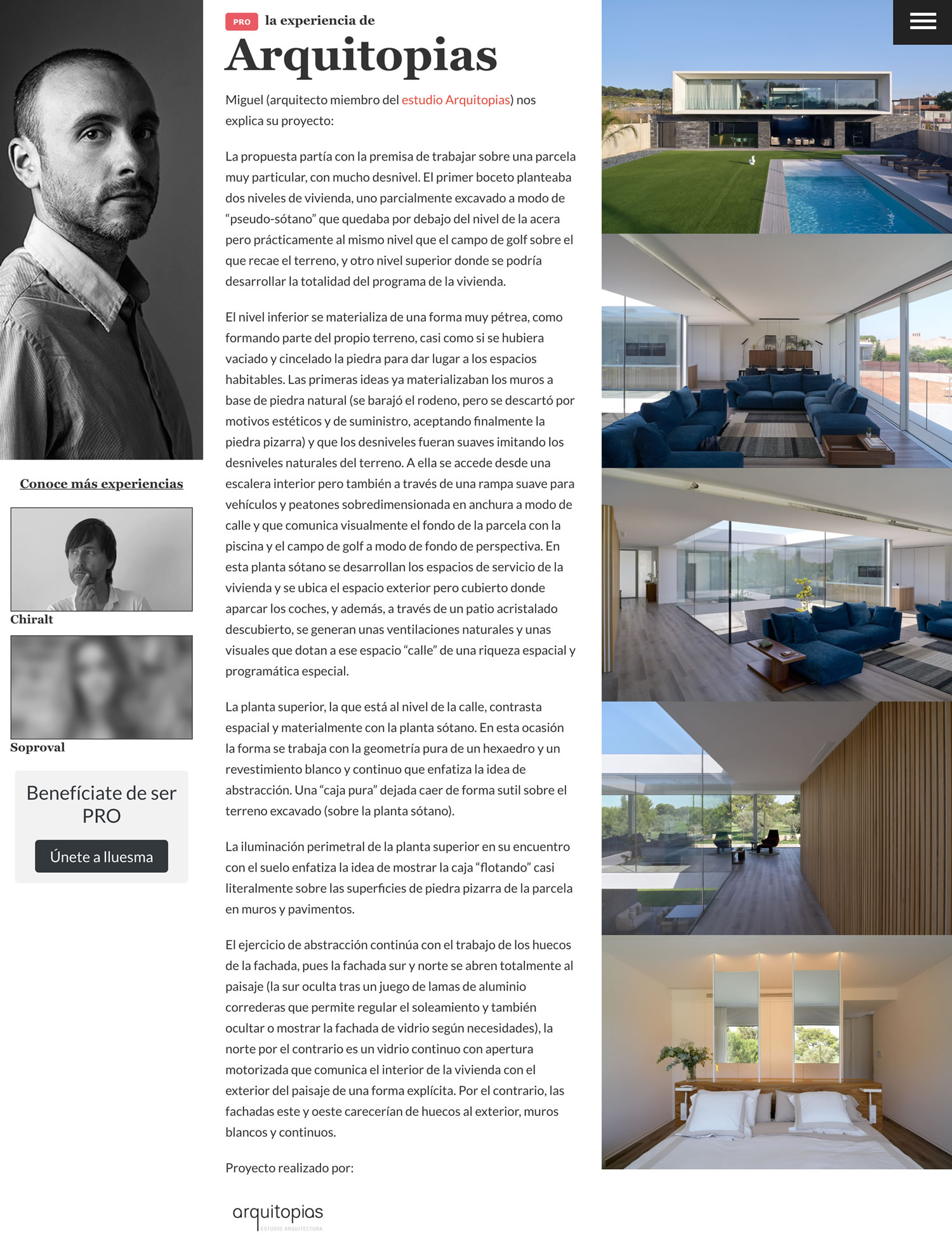 Diseño de página web para profesional