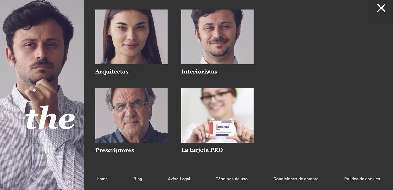 Diseño Menu Página Web con Video