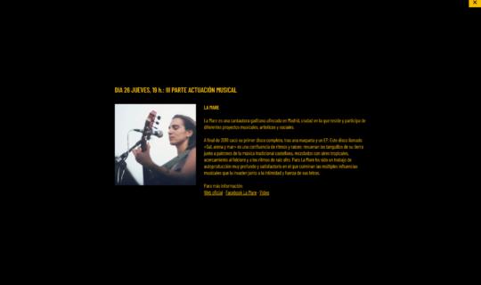 Contenido de la página web Igualment Fest 2020