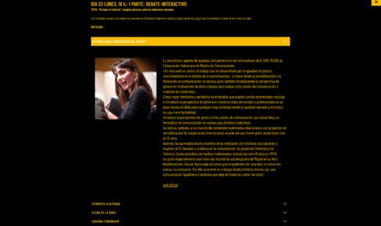Diseño web IgualmentFest Valencia 2020